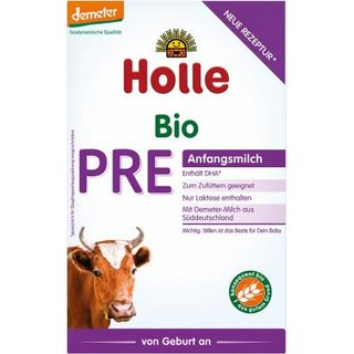Holle Bio-Anfangsmilch PRE mit DHA 400g