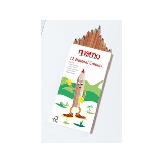 memo Farbstifte Natural Colours 12St.
